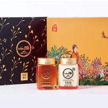 济康新疆黑蜂蜂蜜 天然野生百花蜜源 过节送礼佳品礼盒装