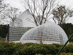 示范区不锈钢抽象海螺雕塑