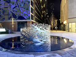 宝龙商业广场不锈钢树影雕塑