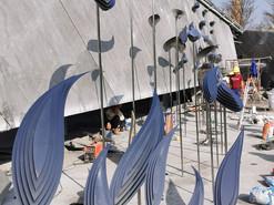 广州房地产示范区雕塑