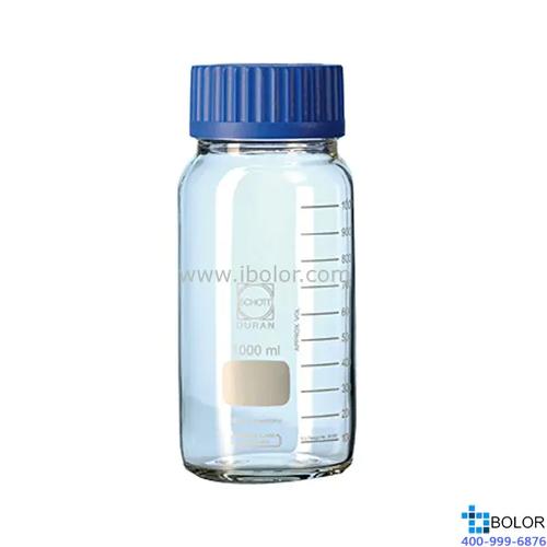 Schott Duran 透明玻璃广口瓶 250mL,GLS80口径 Schott/肖特;218603656