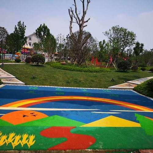 苏州黄家溪游乐场塑胶地坪