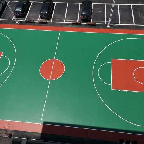 诸暨市大唐派出所硅PU篮球场