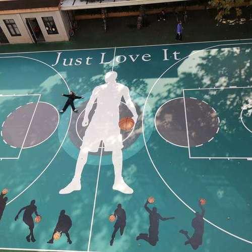 上海瑞金街道户外硅pu篮球场