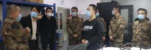 上海警备区动员局副局长廖刚斌调研园区企业瞰景科技