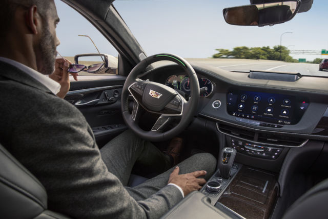 2019 Cadillac CT6 with Super Cruise engaged.