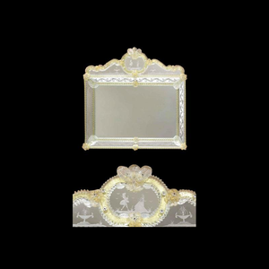 情侣-威尼斯墙镜-穆拉诺玻璃和金色24克拉