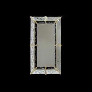 总督-威尼斯镜子-黑色雕花奢华镜面