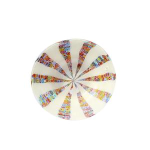 盘子圆形MILLEFIORI多色白色-MURANO玻璃碟