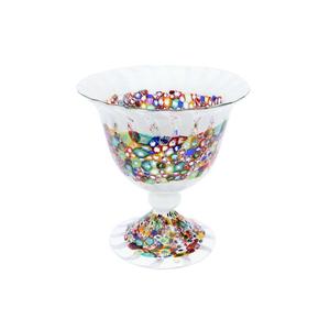 中心碗MILLEFIORI&戛纳-COPPA TRIONFO花瓶-MURANO玻璃碟