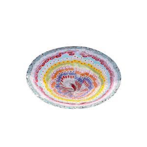 带有多色MILLEFIORI的核心-穆拉诺玻璃碟