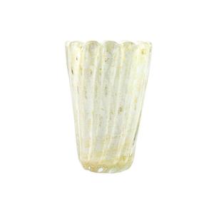 莲花花瓶-白色-穆拉诺玻璃原味
