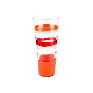 花瓶白色橘红色-卡洛·莫雷蒂-穆拉诺玻璃原味