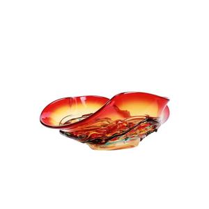 宽边帽红-玻璃核心碗