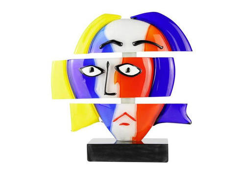 雕塑头-毕加索致敬-穆拉诺原始玻璃OMG