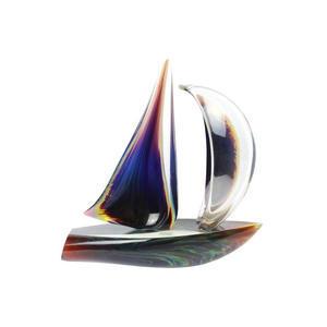 帆船-玉髓雕塑-穆拉诺玻璃原版