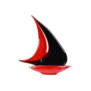 帆船-玻璃雕塑