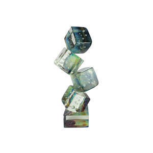 骰子进入深渊-玉髓中的雕塑-原始的穆拉诺玻璃