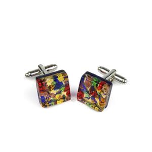 袖扣-狂欢节幻想-穆拉诺玻璃原味