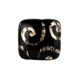 迷人戒指-黑色-MURANO原始玻璃