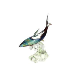 鲨鱼底座-玉髓雕塑-MURANO原始玻璃