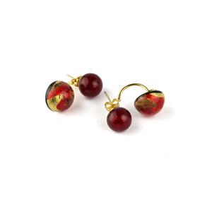 塞西莉亚耳环-红色-MURANO玻璃原味-560