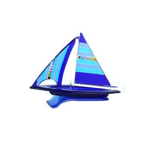 帆船-蓝色-MURANO原装玻璃