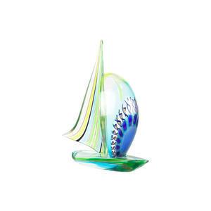 帆船-戛纳和金银丝-原装穆拉诺玻璃