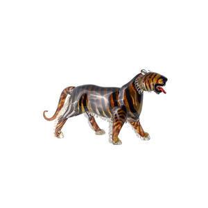 老虎MALESIA雕塑原始穆拉诺玻璃