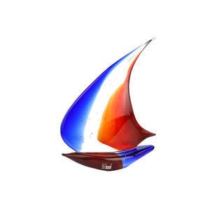 帆船风-玻璃雕塑