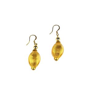 威尼斯耳环石-含纯金-穆拉诺玻璃原味