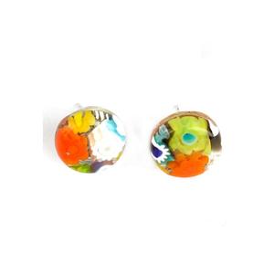 耳环-带MILLEFIORI-原装MURANO GLASS