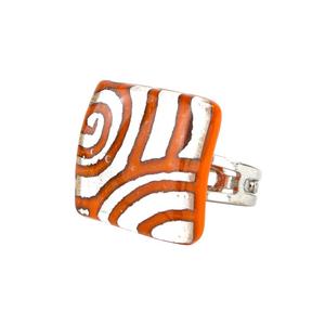 迷人戒指-橙色-MURANO原始玻璃