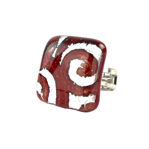 迷人戒指-红色-MURANO原始玻璃
