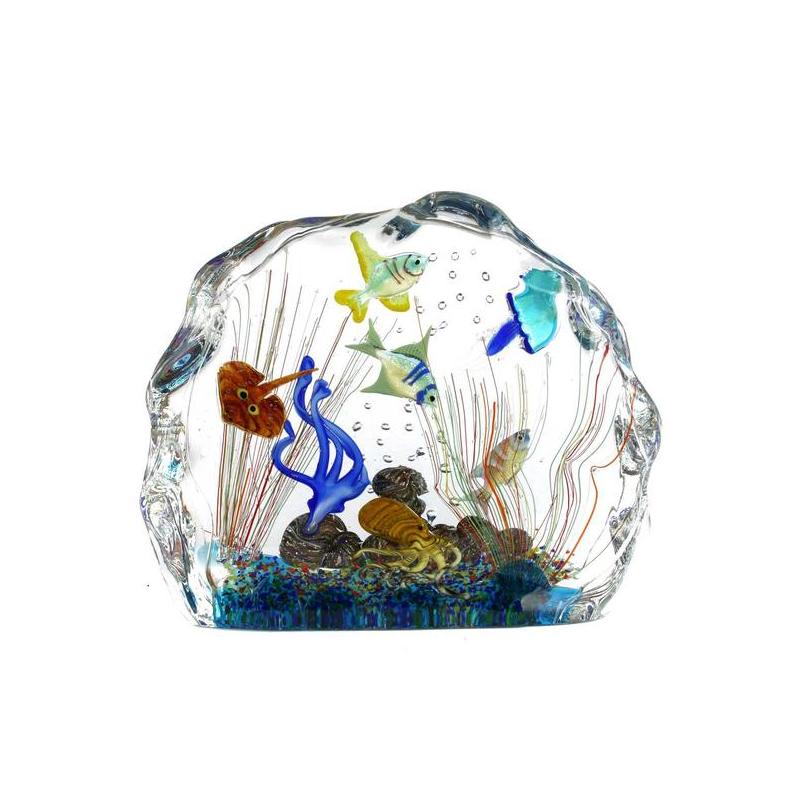 水族馆雕塑-带热带鱼-原始的穆拉诺玻璃