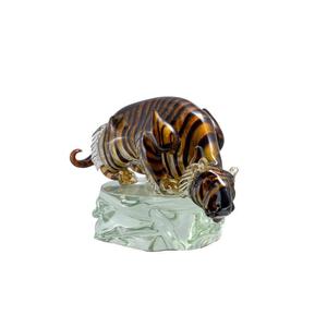 老虎-玻璃雕塑