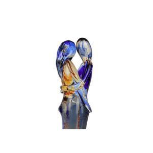 情侣雕塑-ONELOVE-蓝色橙色装饰