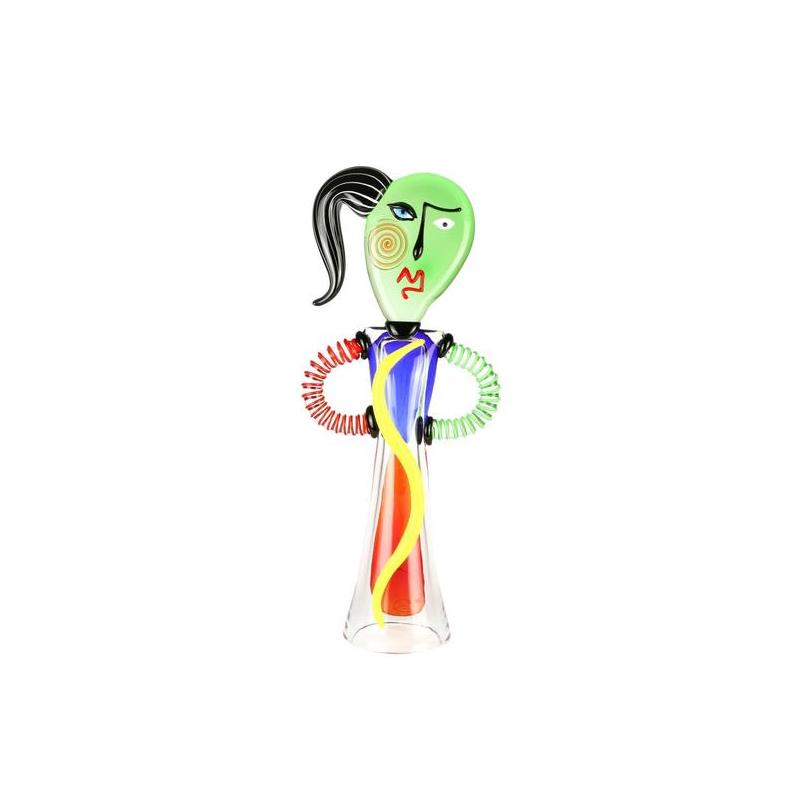 愤怒的女人-向毕加索致敬-流行艺术-穆拉诺玻璃原作