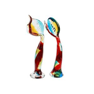 密不可分-穆拉诺玻璃-情侣雕塑
