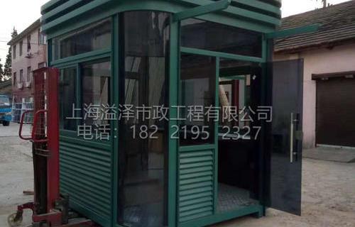 钢结构灰玻岗亭浙江衢州门卫亭3米*2.5米*3米