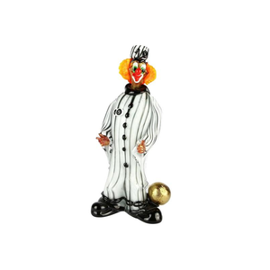 小丑雕像囚犯囚犯原始穆拉诺玻璃
