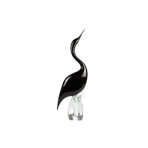 黑鹭男-玻璃雕塑-穆拉诺原始玻璃