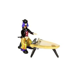 带有钢琴音乐播放器的小丑小雕像ORIGINAL MURANO GLASS