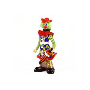 带有伞的小丑公仔ORIGINAL MURANO GLASS