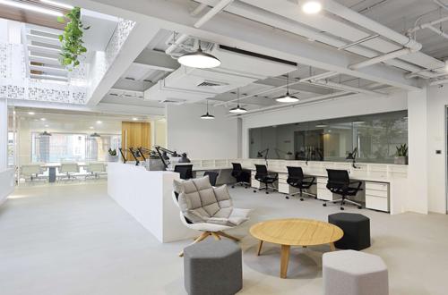 上海现代办公楼设计装修工程