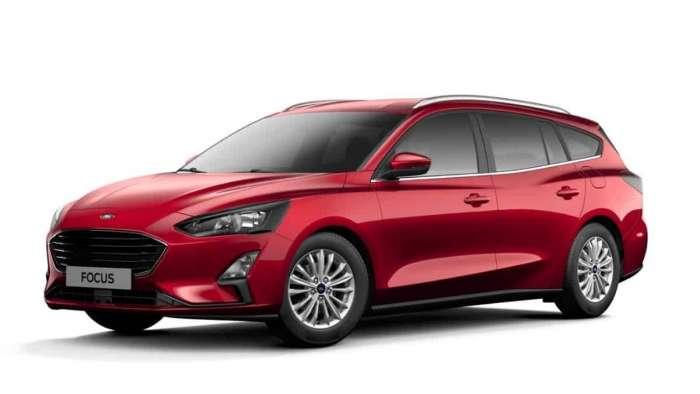 Euro Ford Focus Titanium in Ruby Red