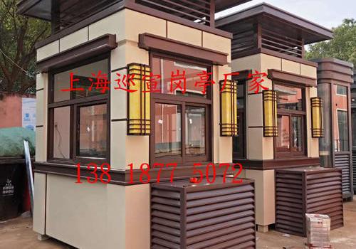 苏州造型钢结构岗亭已制作完工