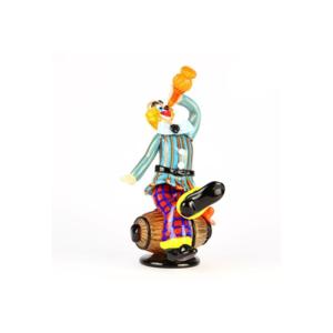 小丑与蜡烛点燃-穆拉诺玻璃