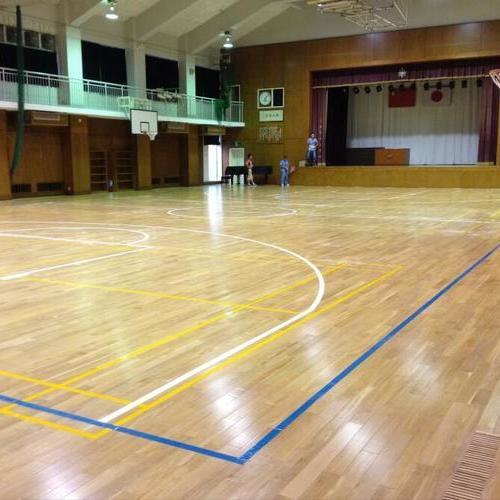 室内篮球场运动木地板(浦东日本人小学篮球馆)