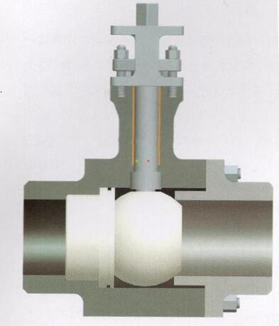 气动硬密封陶瓷球阀结构图
